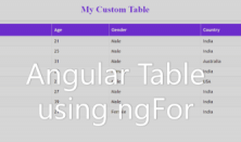 How To Create Table In Angular 7 Using Ngfor Codez Up