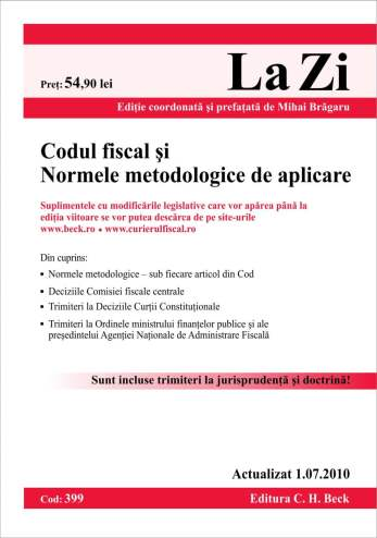 Codul fiscal si normele metodologice