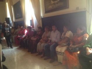 Grupo de víctimas que asistió a dar testimonio frente a la comisión permanente de seguridad y defensa de la asamblea nacional