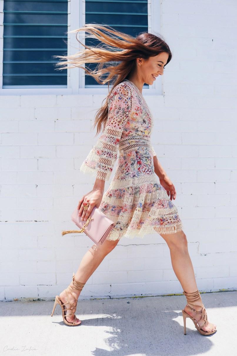 Zimmermann Lovelorn Floral Flutter Dress - Wear To Next