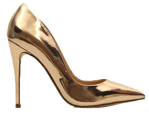 Betts Blossom Metallic Rose Gold Stiletto Heels