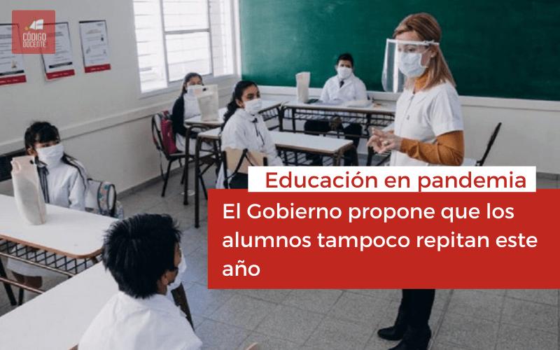 <h6>Educación en pandemia</h6><h1>El Gobierno propone que los alumnos tampoco repitan este año</h1>
