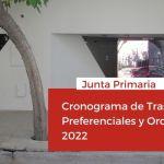 Junta Primaria estableció el cronograma de Traslados Preferenciales y Ordinarios 2022