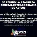 ADICUS: Se reunió ayer la Asamblea General Extraordinaria