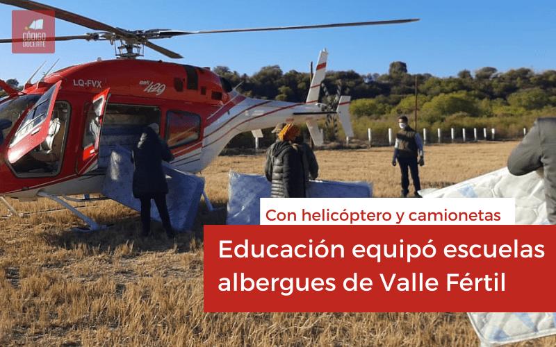 Educación equipó integralmente escuelas albergues de Valle Fértil