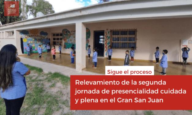 Relevamiento de la segunda jornada de presencialidad cuidada y plena en el Gran San Juan