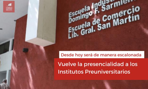 Vuelve la presencialidad a los Institutos Preuniversitarios