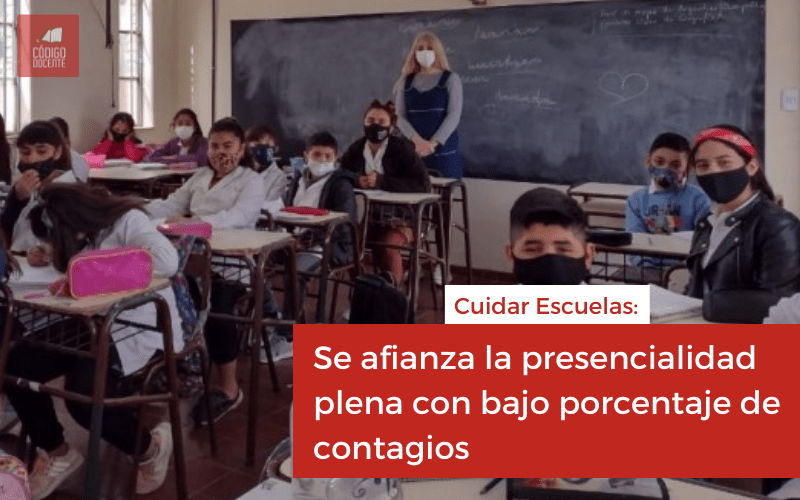 Cuidar Escuelas: se afianza la presencialidad plena con bajo porcentaje de contagios