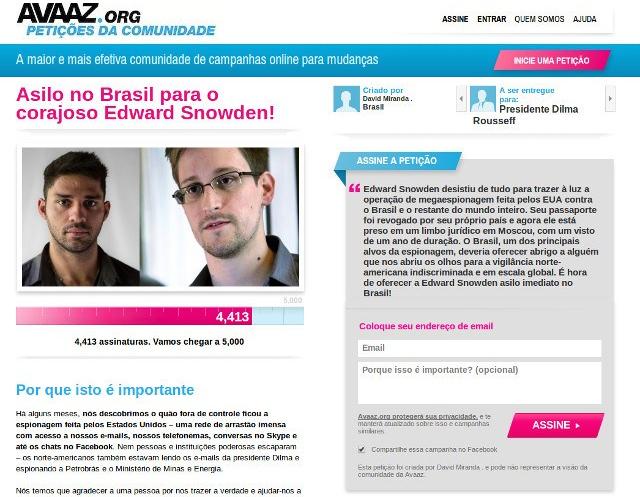 Snowden-petición