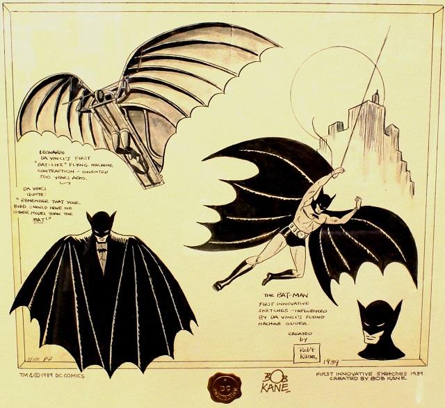 Uno de los bocetos origínales  presentados por Kane a la National