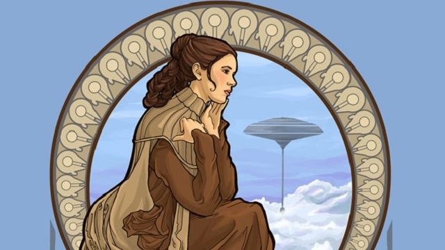 mujeres de star wars en art nouveau c digo espagueti. Black Bedroom Furniture Sets. Home Design Ideas