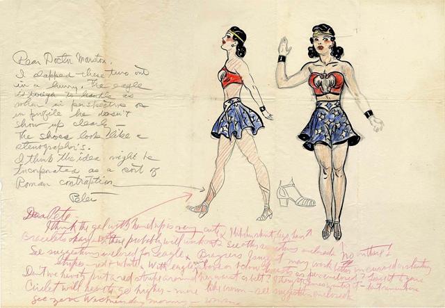 El arte conceptual de Wonder Woman, realizado por H. G. Peter, el dibujante de las primeras 97 historias de Sensation Comics