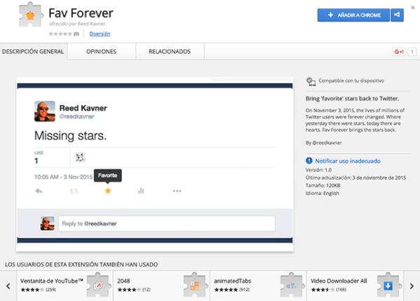 Con Fav Forever nunca tendrás que decir adiós a la estrella de Twitter.