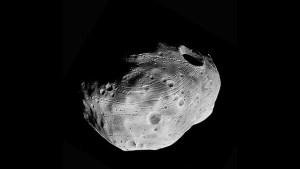 Fobos, el satélite natural más grande de Marte.