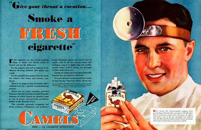 Ciencia y tabaco: Cuando los doctores te recomendaban fumar
