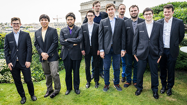 Los participantes del Grand Chess Tour de París