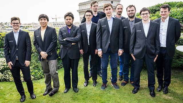 Los participantes del Grand Chess Tour de París
