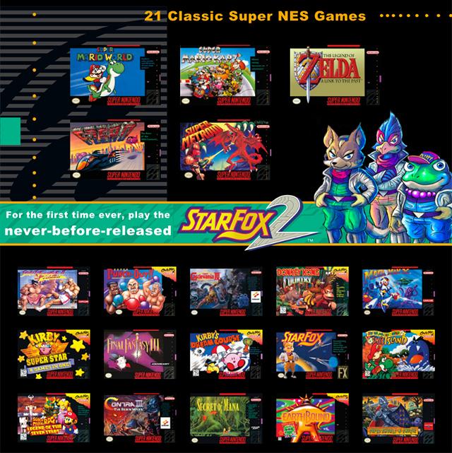 El SNES Mini incluirá 21 juegos clásicos