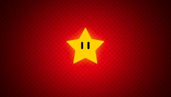 una estrella de Mario Bros