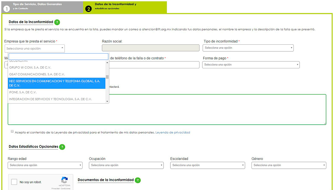 En el portal de la IFT no aparece ningún servicio de streaming
