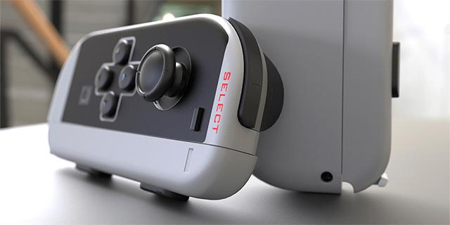Controles de Nintendo Switch al estilo NES.