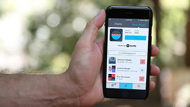 Mighty se sincroniza a través de una aplicación para iOS y Android
