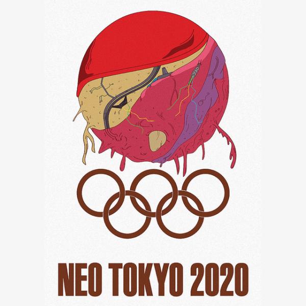 FanArt de las ficticias olimpiadas de Neo Tokio 2020.