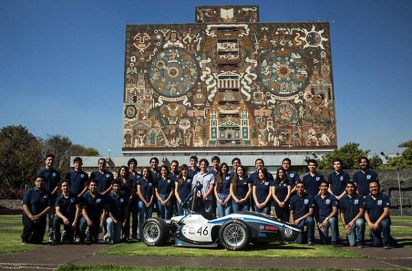 El equipo UNAM Motorsports de la Facultad de Ingeniería de la UNAM