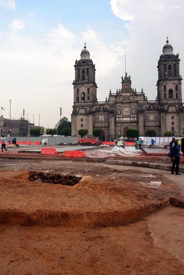 """Descubren el """"Zócalo"""" de la Ciudad de México. Foto Melitón Tapia INAH"""