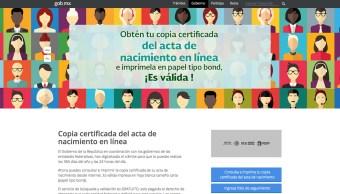 Ya puedes sacar tu acta de nacimiento en internet