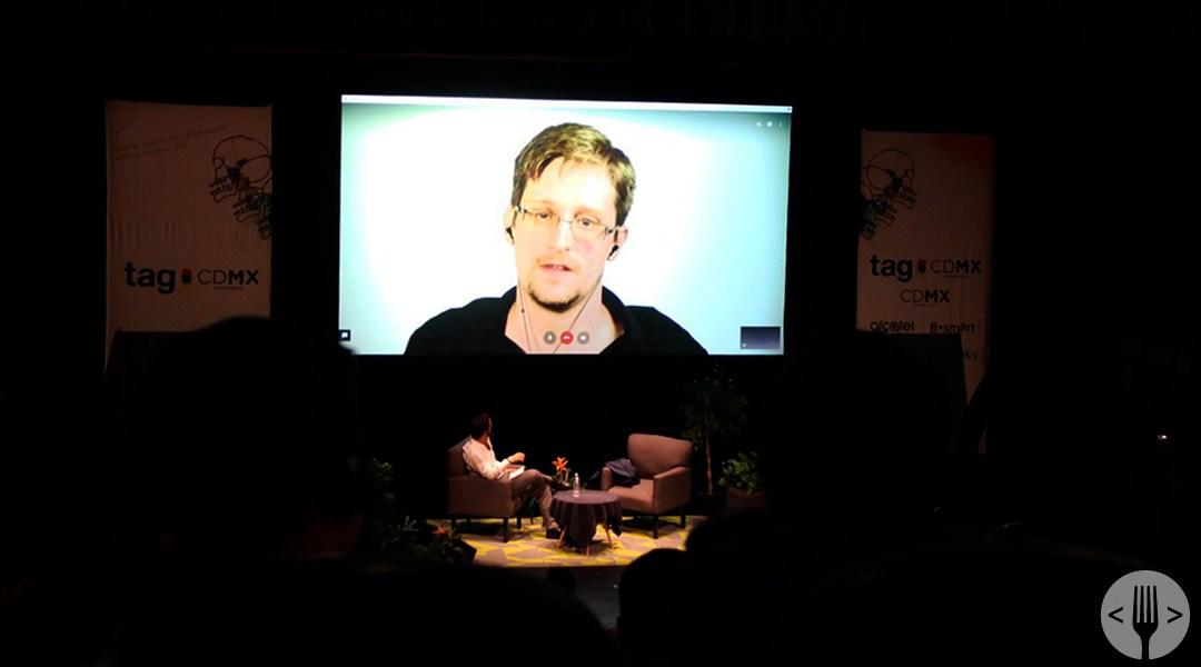 Videoconferencia de Edward Snowden en TagCDMX