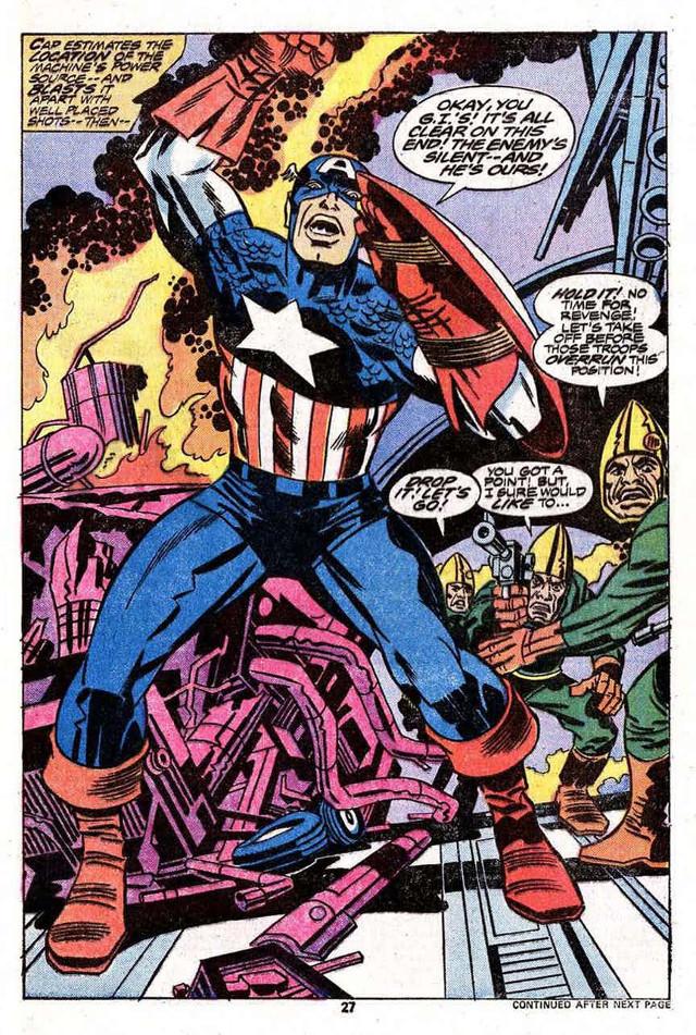 Capitan America, creado por Jack Kirby y Joe Simon