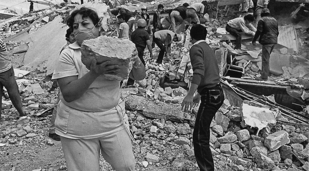 Imagen del terremoto de 1985 en la Ciudad de México