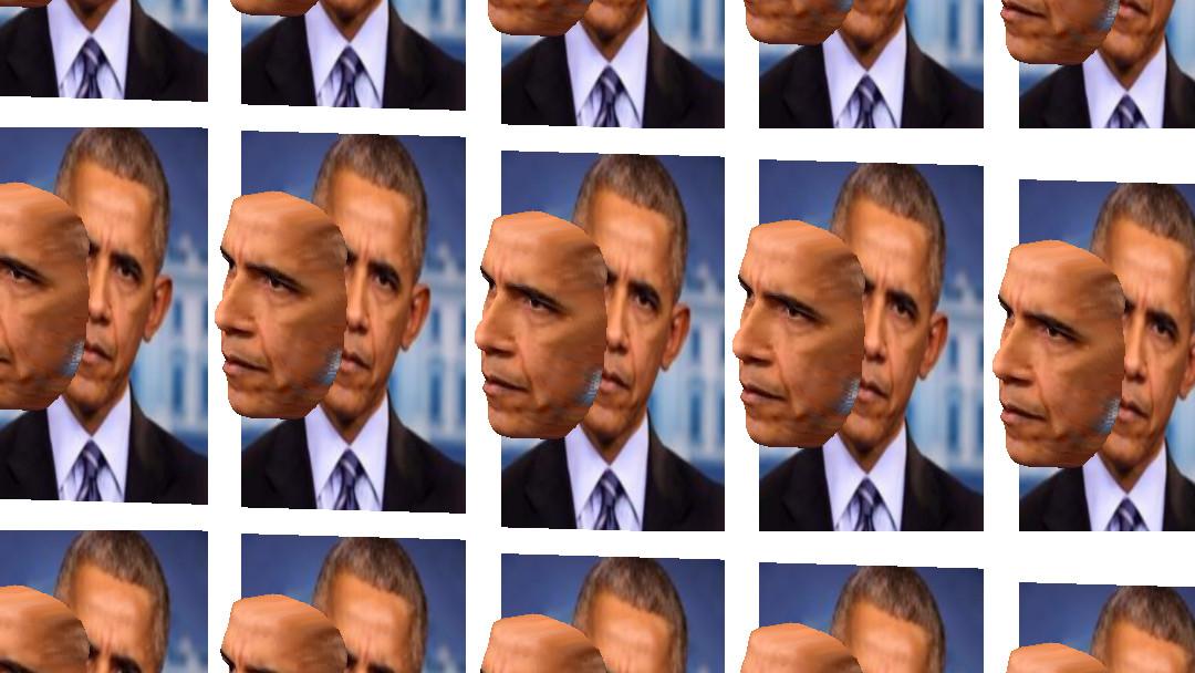 Barak Obama en 3D
