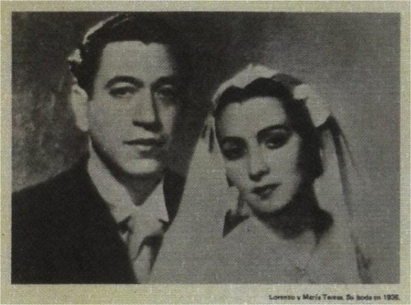 Lorenzo Barcelata y su esposa María Teresa, a quien componía y dedicaba sus canciones.