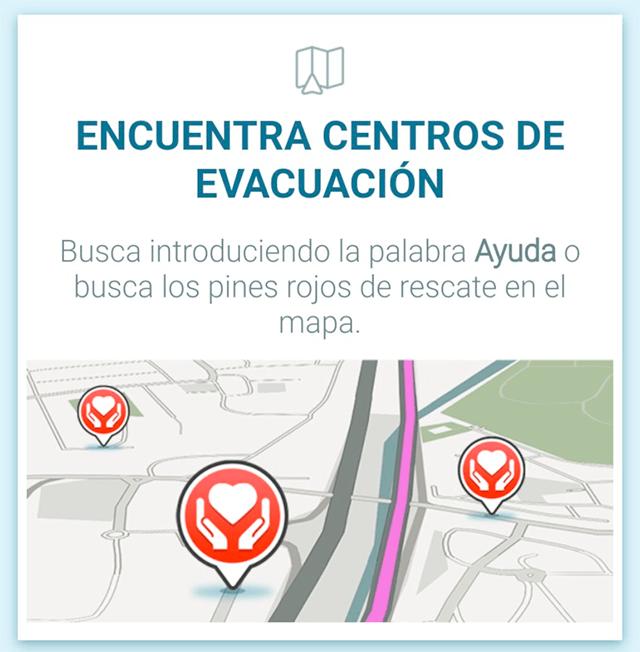 """El nuevo ícono de los """"centros de evacuación"""" (albergues)"""