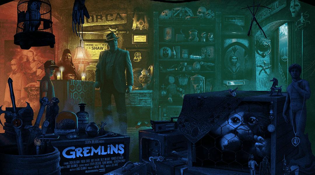 Este póster de Gremlins oculta 84 referencias al cine y la TV