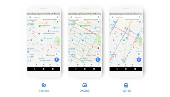 nuevo look de Google Maps