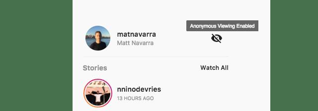 Visita los Stories de usuarios de forma anónima.