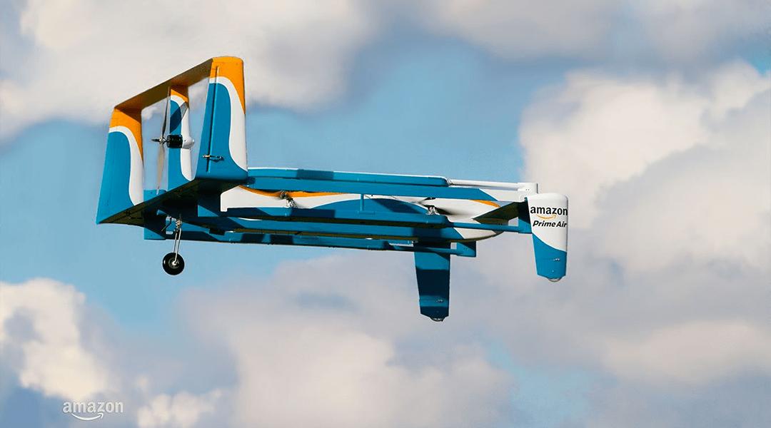 Amazon patenta un drone autodestructivo en caso de emergencias