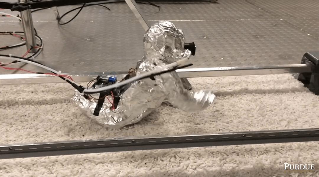 Robot demuestra que cuando un bebé gatea inhala mucho polvo