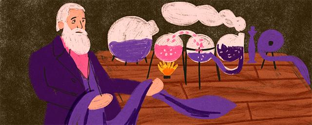 El Doodle de hoy celebra al descubridor de los colorantes artificiales