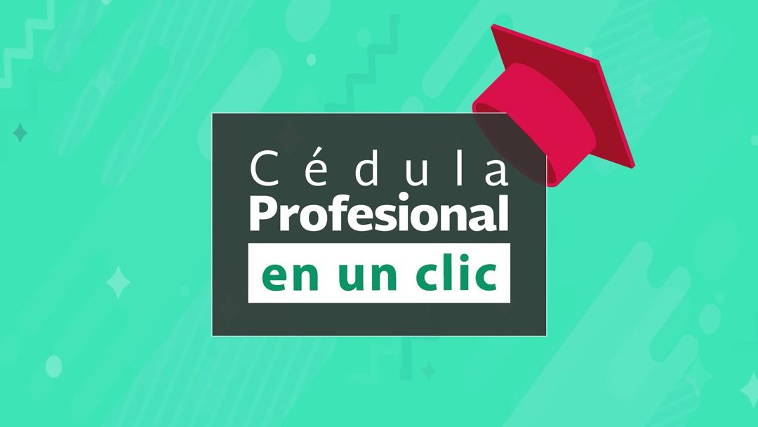 poster de cédula profesional electrónica en un clic