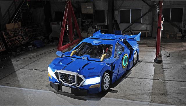 Científicos japoneses crearon un Transformer real que se convierte en auto
