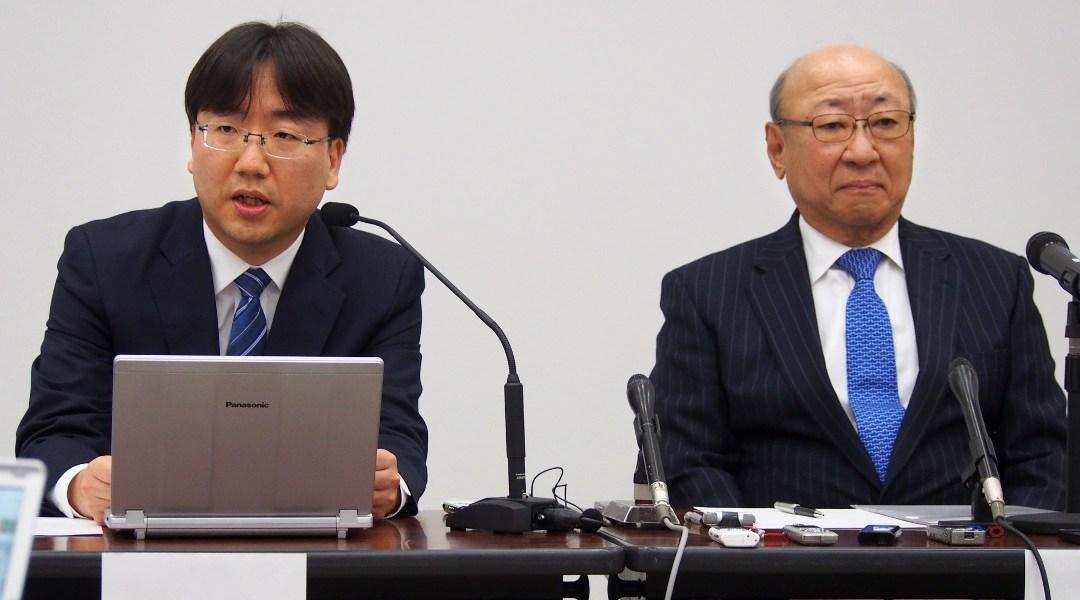 De izquierda a derecha Shuntaro Furukawa y Tatsumi Kimishima