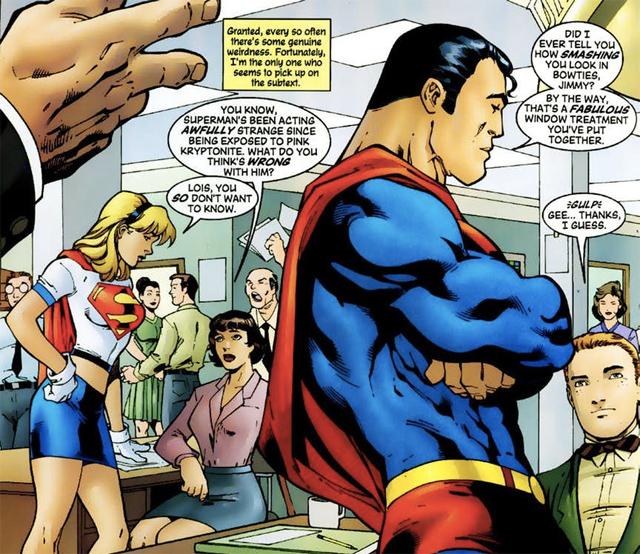 Los efectos de la Kryptonita rosa.