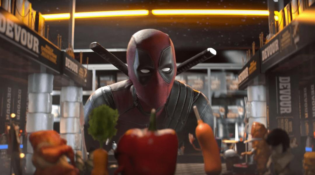 Deapool en una imagen promocional de Deadpool 2