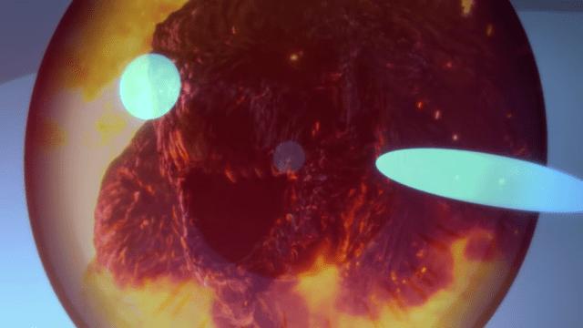 Un fragmento de la película animada de Godzilla