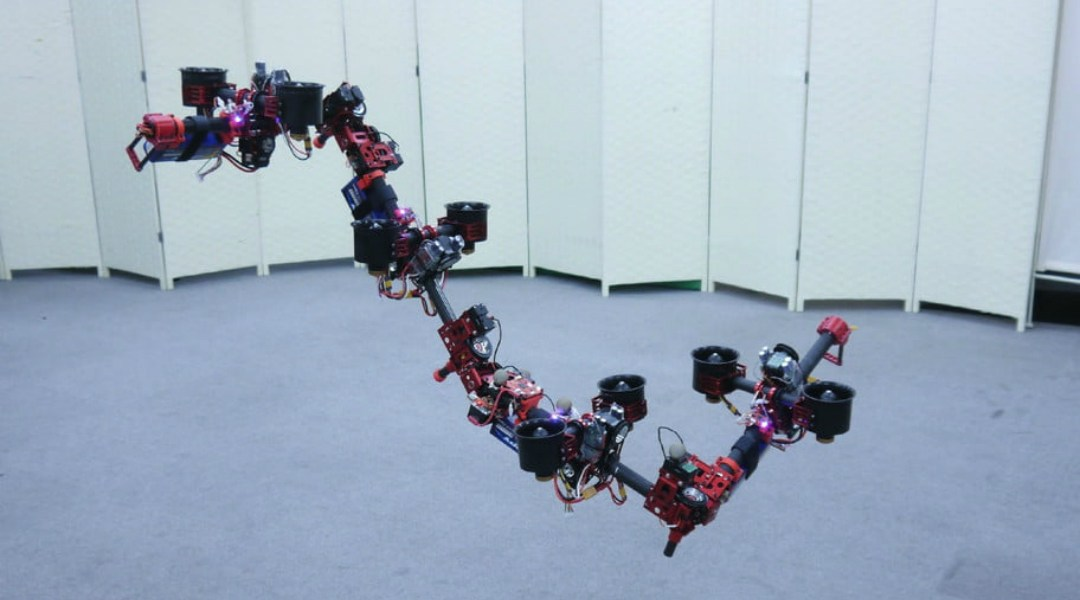 Este drone en forma de dragón se desliza como Shenlong