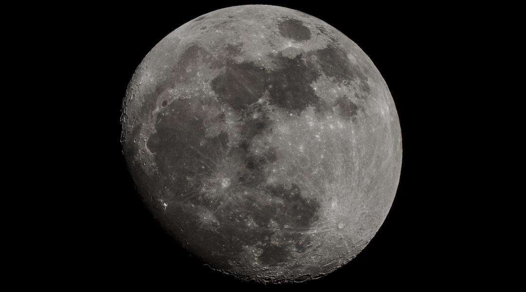 La Luna vista desde España una noche